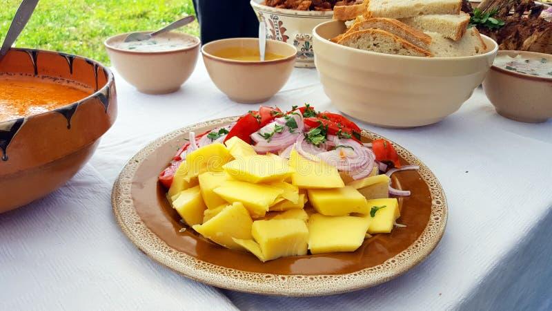 Prato tradicional do alimento de Transylvanian fotografia de stock