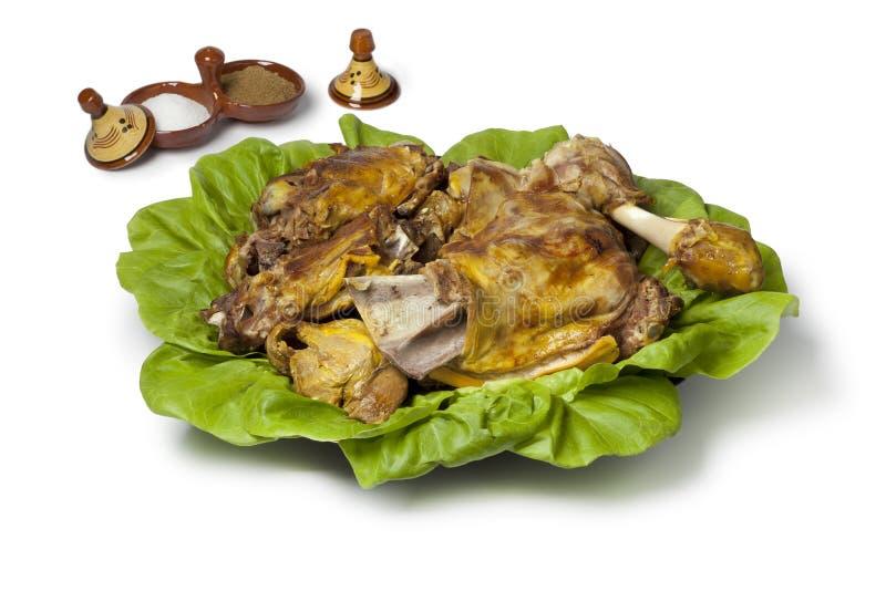 Prato tradicional para Eid al-Adha imagem de stock
