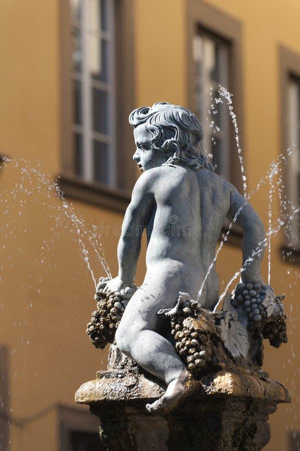 Prato (Tuscany), ancient fountain royalty free stock photography