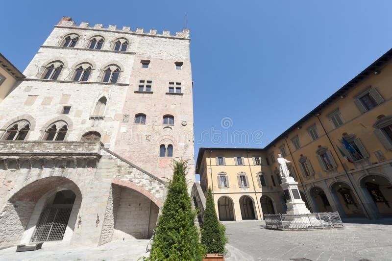 Prato (Tuscany), historic square stock photo