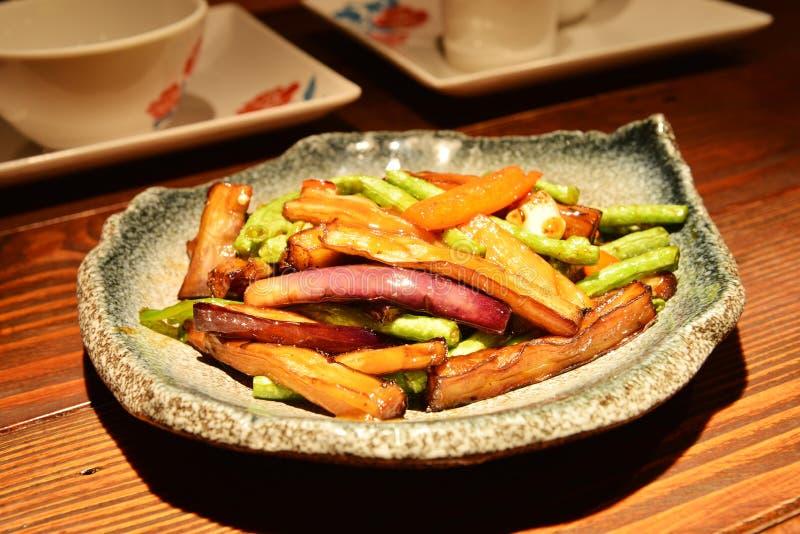 Prato vegetal chinês foto de stock