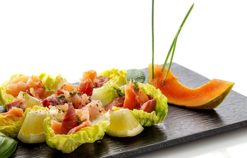 Prato vegetal dietético da salada, restaurante chinês vegetariano imagens de stock