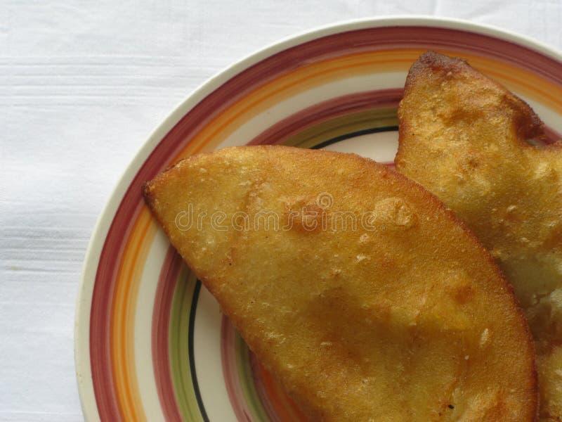 Prato venezuelano: ` De Empanadas do `; Carne e queijo fotografia de stock