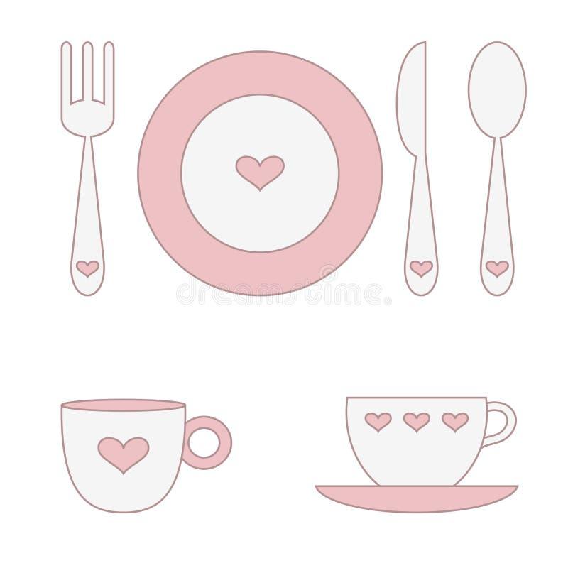 Download Pratos ilustração do vetor. Ilustração de jantar, placa - 10050706
