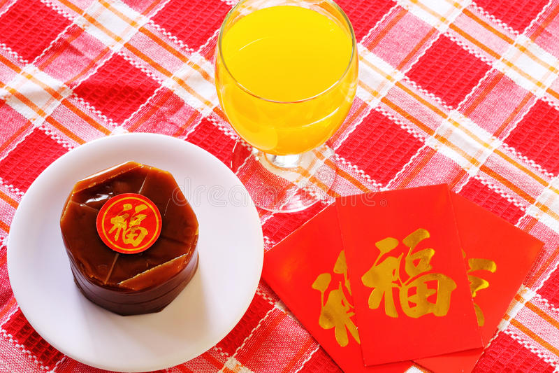 Pratos do special de Nian Gao Chinese New Year imagens de stock royalty free