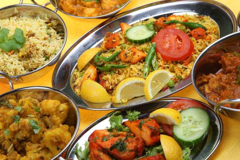 Pratos indianos do caril imagem de stock royalty free