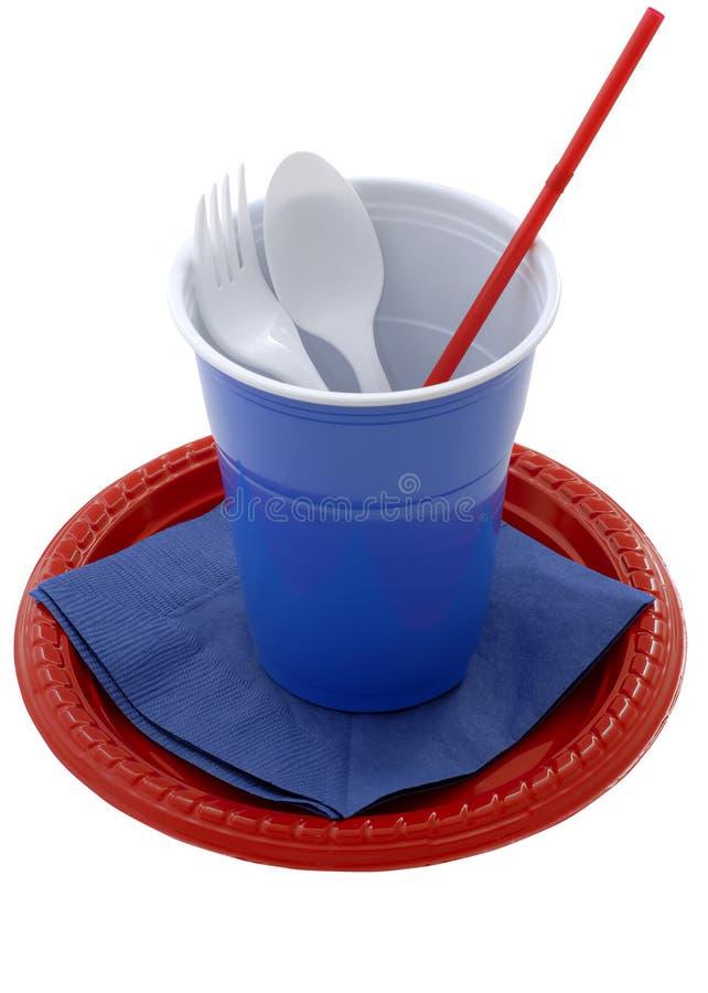 Pratos plásticos imagens de stock royalty free