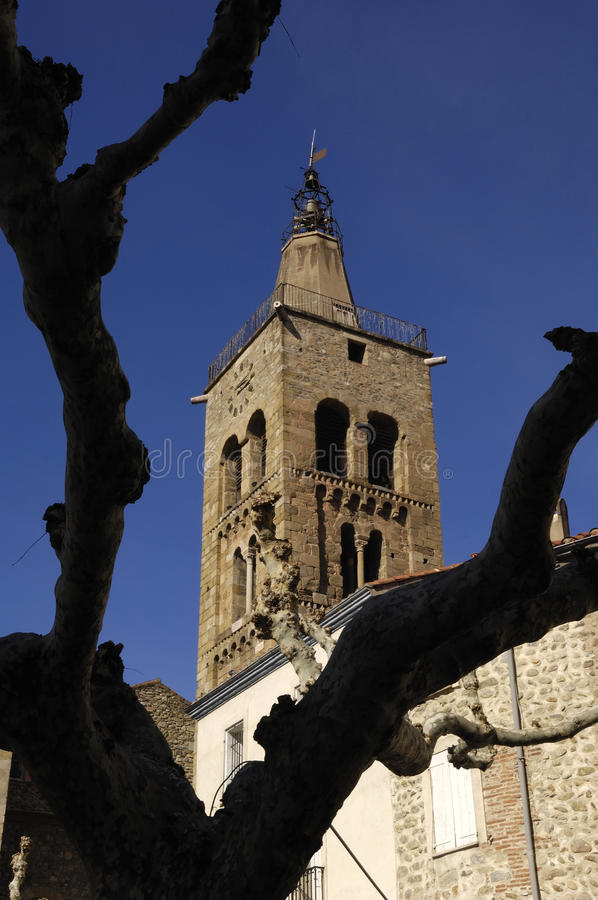 Prats de Mollo - La Preste, Vallespir,朗戈多克・鲁西荣,比利牛斯Orintales,法国村庄  免版税图库摄影
