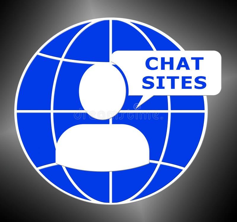 Pratstund placerar den Logo Means Discussion 3d illustrationen stock illustrationer