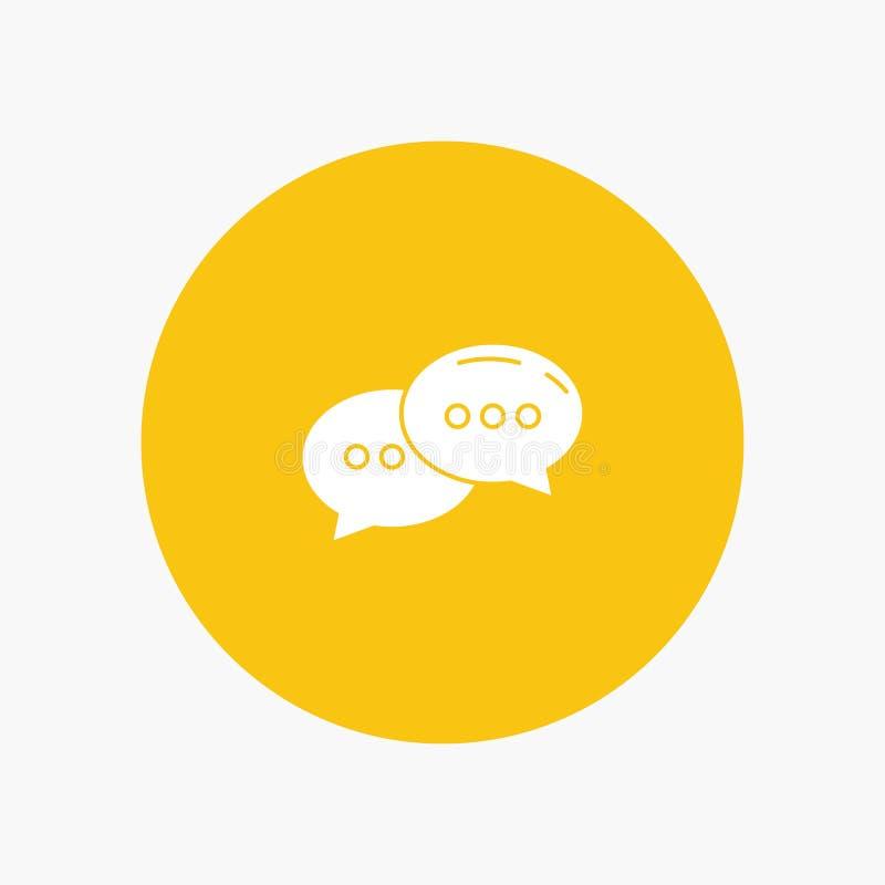Pratstund som pratar, konversation, dialog royaltyfri illustrationer