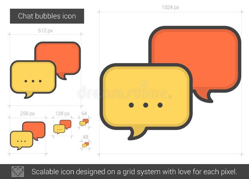 Pratstundbubblalinje symbol royaltyfri illustrationer