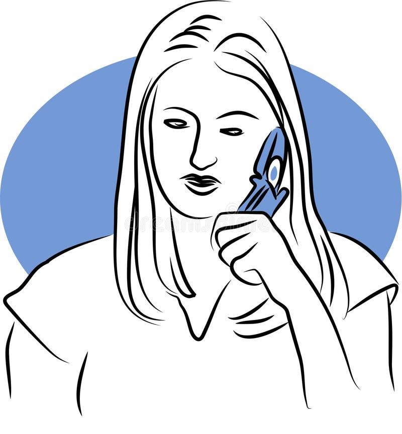 pratstundtelefon royaltyfri illustrationer