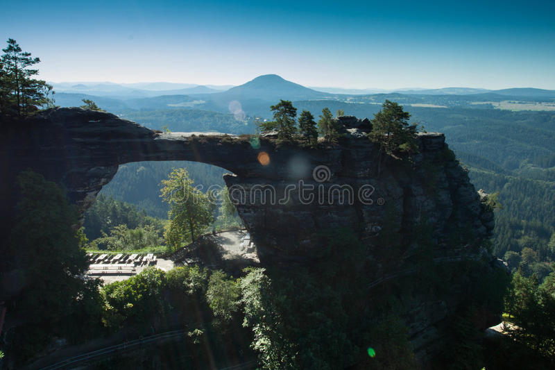Pravcicka Gate, Czech republic stock image