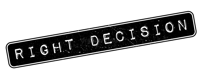 Prawa decyzi pieczątka ilustracji