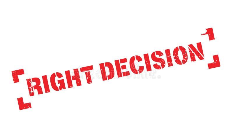 Prawa decyzi pieczątka ilustracja wektor