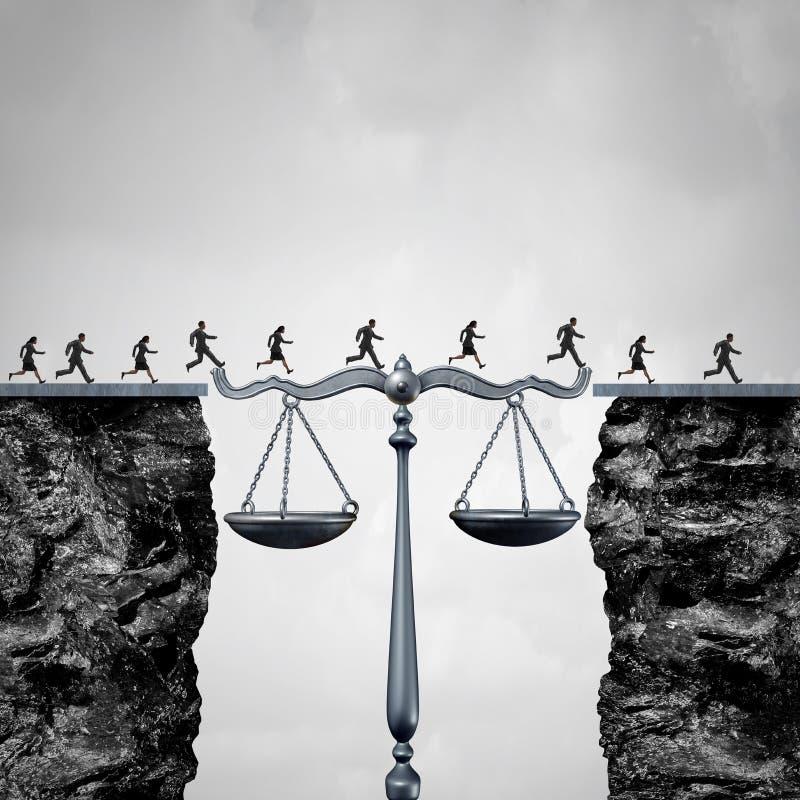 Prawa I adwokata rozwiązanie royalty ilustracja