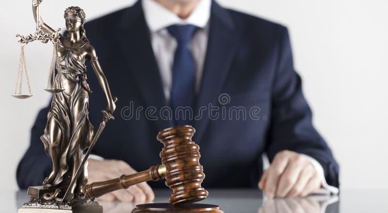 Prawa i sprawiedliwości temat Radca prawny biuro Miejsce dla typografii obraz stock