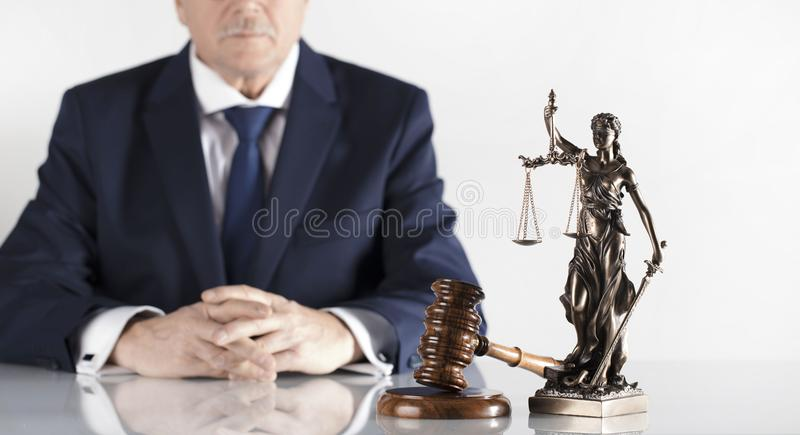 Prawa i sprawiedliwości temat Radca prawny biuro Miejsce dla typografii obrazy royalty free