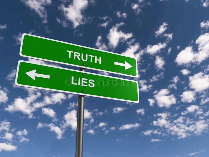 Prawda i kłamstwa ilustracyjni ilustracji