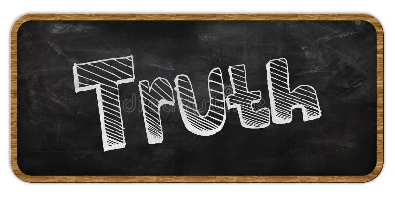 PRAWDA pisać w kredzie na blackboard ramowy drewna ilustracja wektor