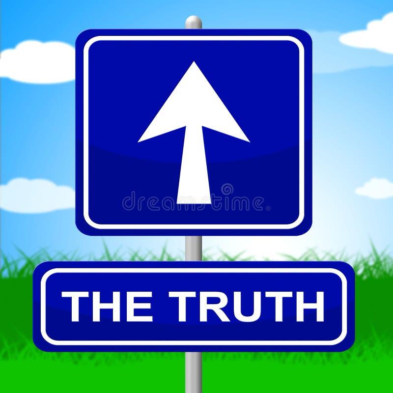 Prawda znak Pokazuje Żadny dokładność I kłamstwo ilustracja wektor