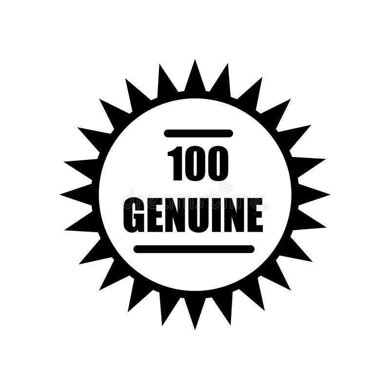 100 prawdziwa ikona odizolowywająca na białym tle ilustracji