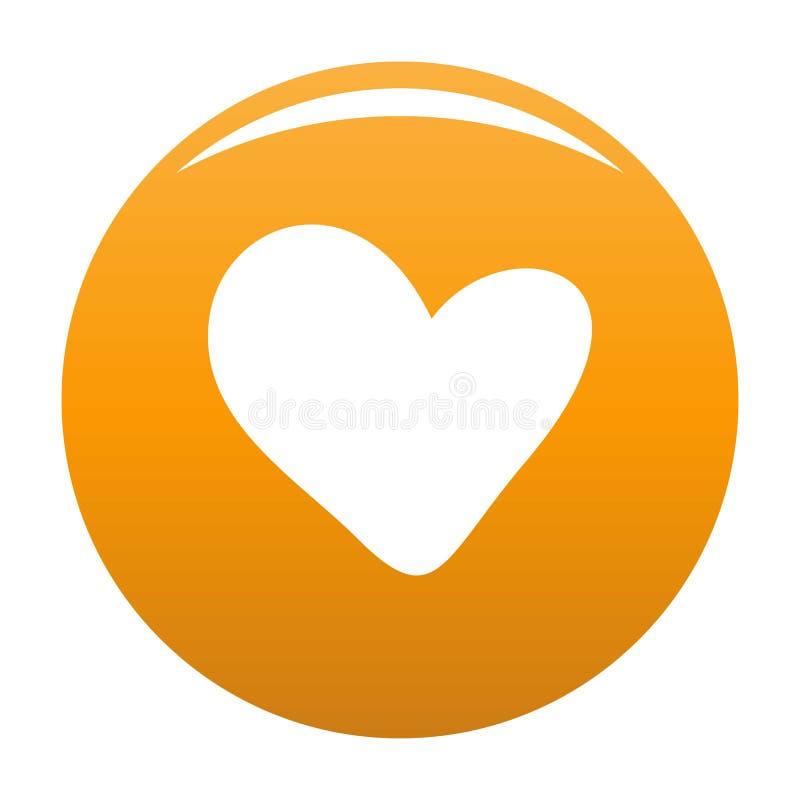 Prawdziwa kierowa ikony pomarańcze ilustracja wektor