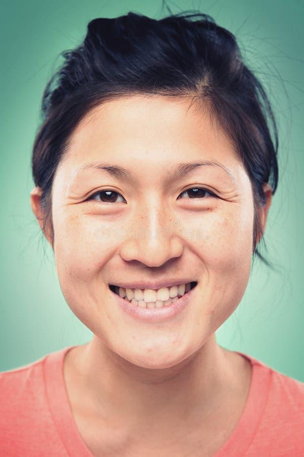 Prawdziwa kobieta portret obrazy royalty free