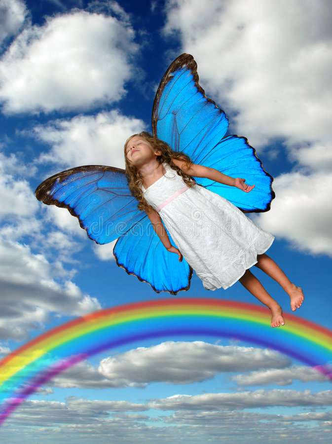 prawdziwa latający mały zdjęcie royalty free