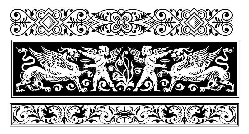 prawdziwa ornamentu wektora ilustracja wektor