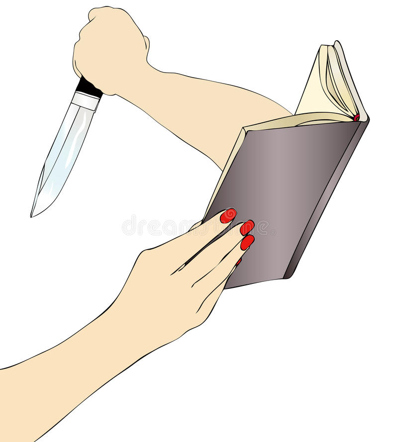 Prawdziwa przestępstwo powieść ilustracji