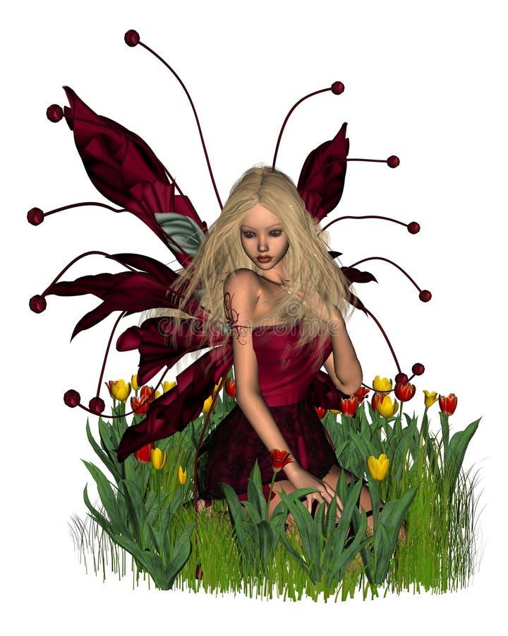 prawdziwa tulipan ilustracji