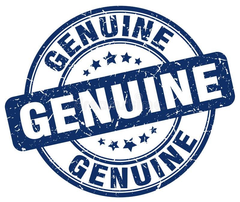 Prawdziwego błękitnego grunge round znaczek ilustracji