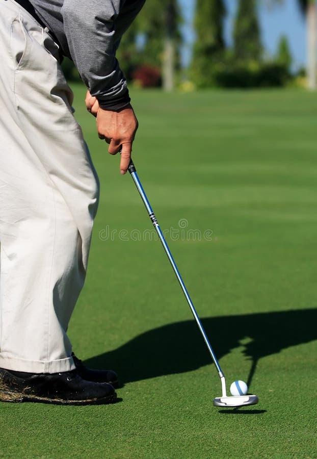 prawdziwy golfiarz obrazy royalty free