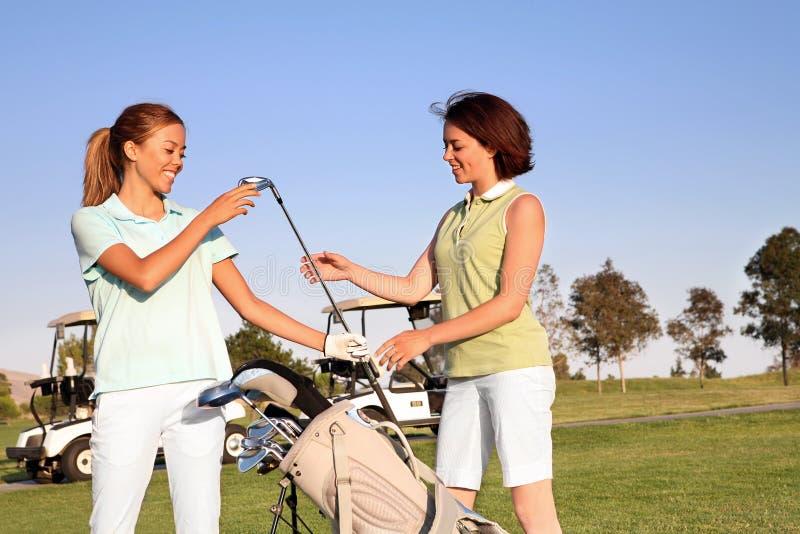 prawdziwy golfiarz kobiety obraz royalty free