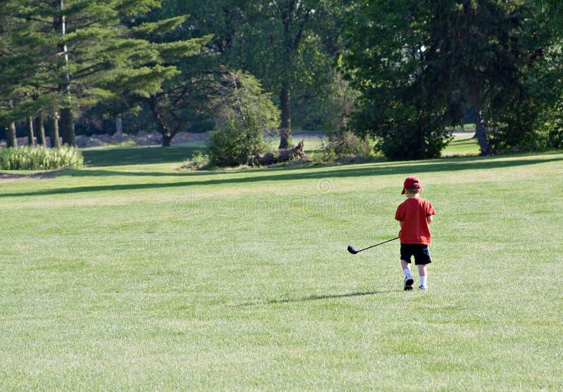 prawdziwy golfiarz trochę zdjęcia stock