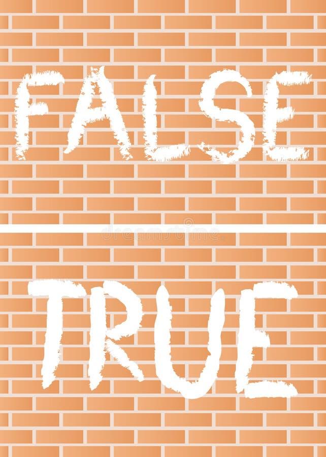 Prawdziwy i fałszywy ilustracja wektor