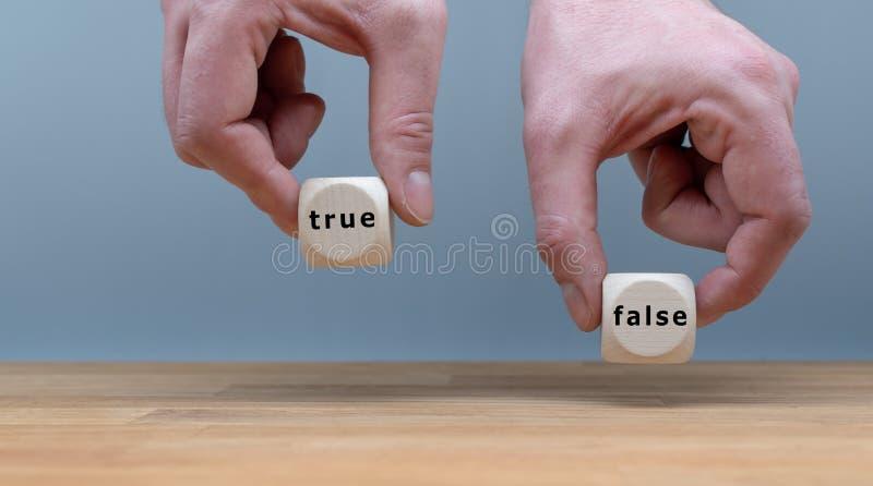 Prawdziwy lub Fałszywy? obrazy royalty free