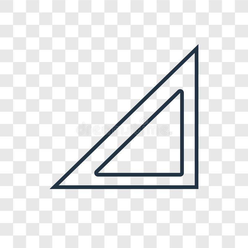Prawego trójboka pojęcia wektorowa liniowa ikona dalej transparen ilustracji