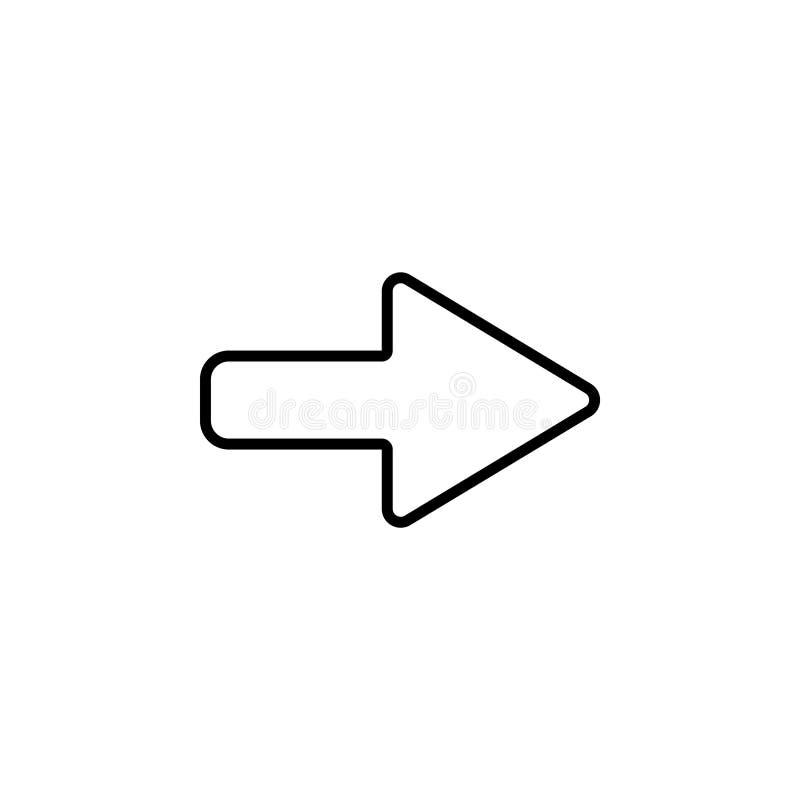 Prawej strzała symbolu linia ilustracji