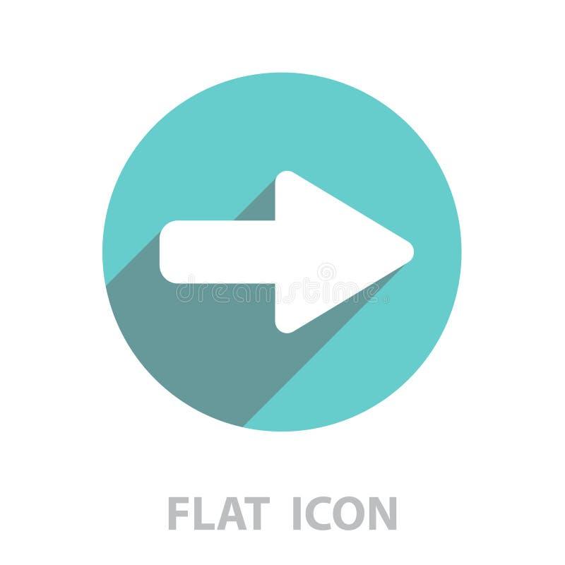 Prawej strza?a symbolu ikona wektor ilustracji