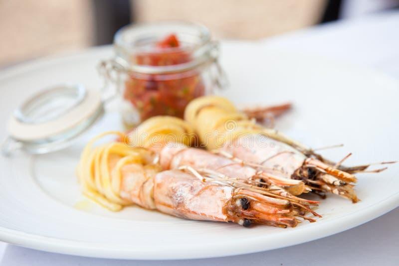 Prawn appetizer stock image