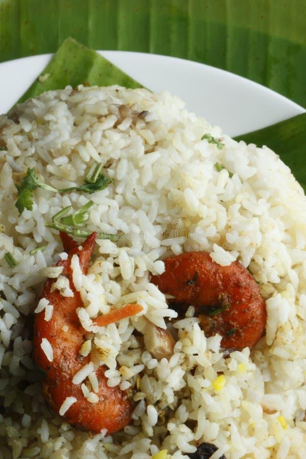 Prawn Biryani - A tasty combination of prawn and basmati rice. royalty free stock photo