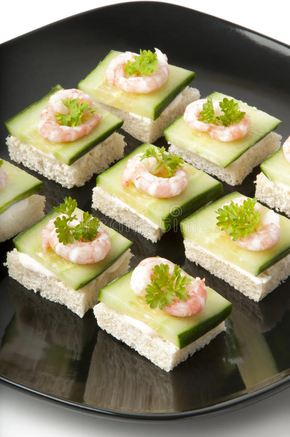 Prawn cocktail appetizer royalty free stock photography