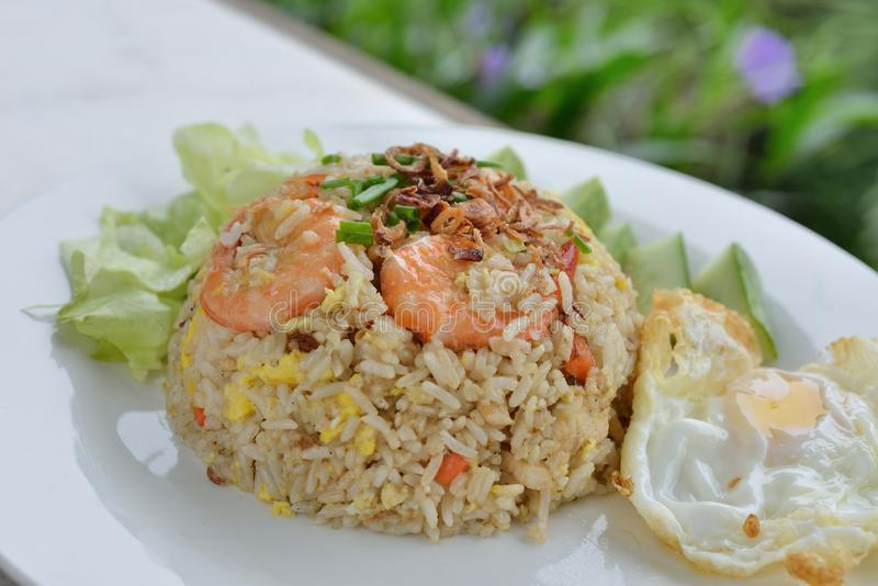 Prawn fried rice royalty free stock photo