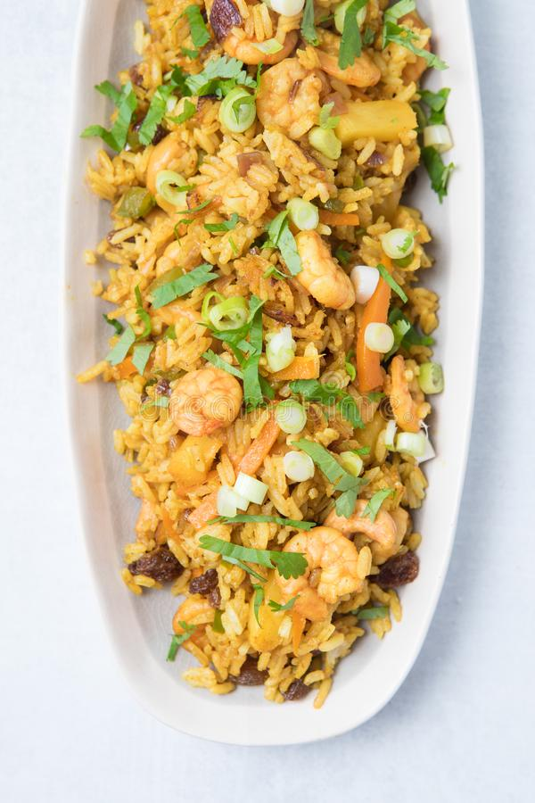 Prawn Fried Rice royalty free stock image
