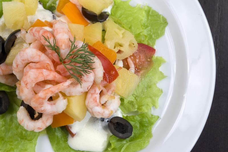 Prawn salad. stock photography