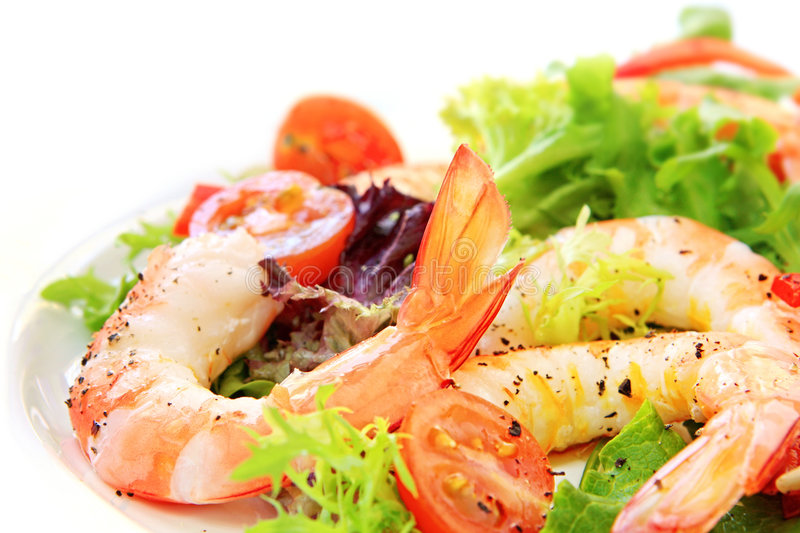 Prawn Salad royalty free stock images
