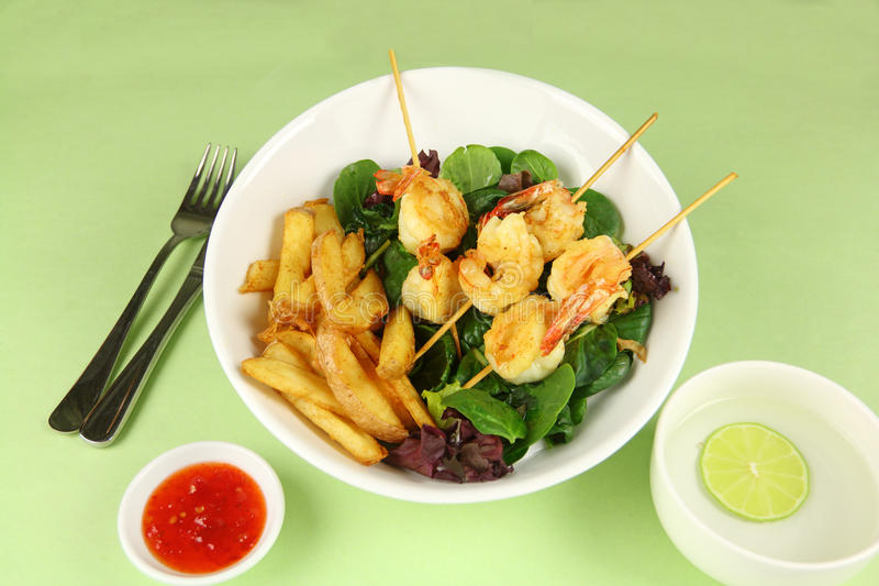 Download Prawn Skewers stock image. Image of dipping, chilli, lime - 28021483
