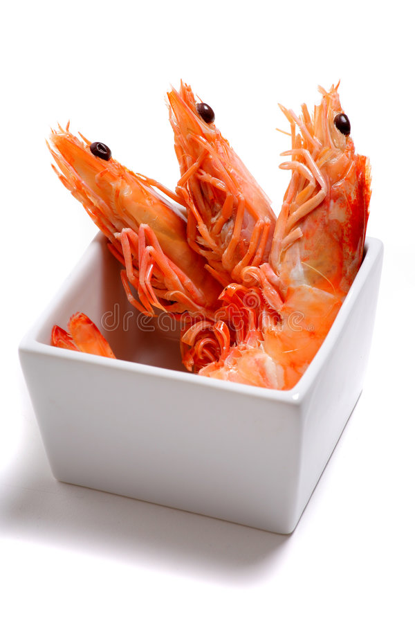 Free Prawns Isolated On A White Background Royalty Free Stock Images - 7453659